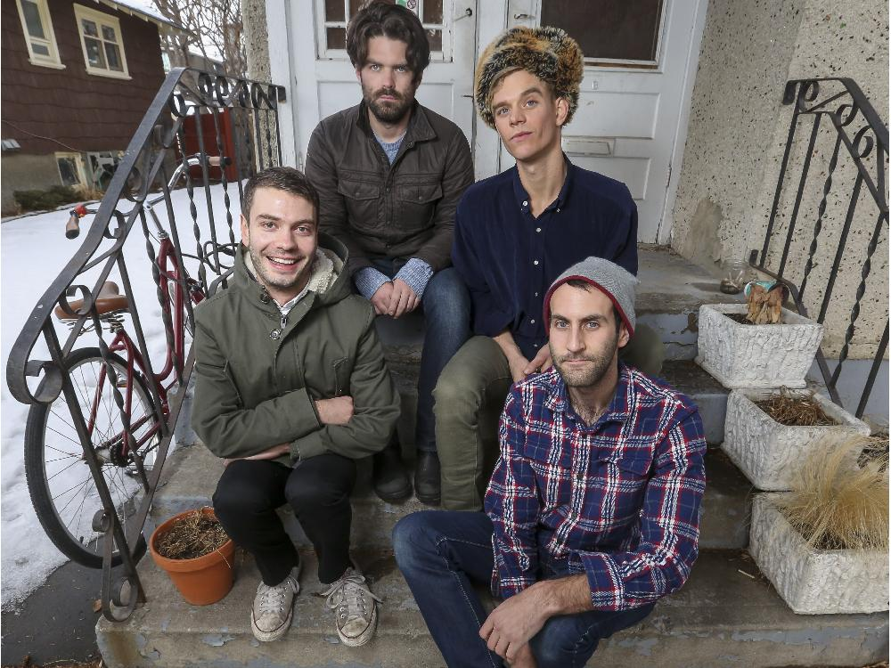 Crystal Schick/ Calgary Herald CALGARY, AB -- The local band Viet Cong poses for a photo in honour of the release of their new album in Calgary, on January 18, 2015. --  (Crystal Schick/Calgary Herald) (For Entertainment story by  Mike Bell) 00061948A