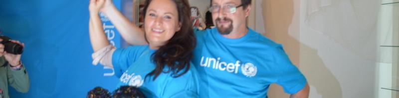 Michal Viewegh a Jitka Čvančarová podpořili  Unicef tancem