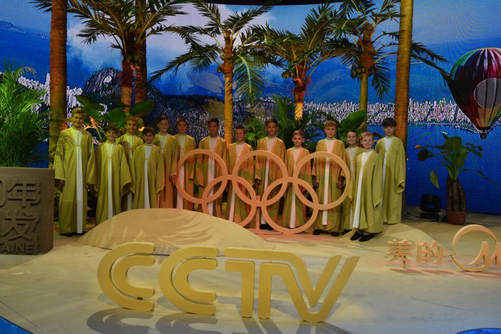 foto pro tisk - CCTV Peking - natáčení pro olympijské studio