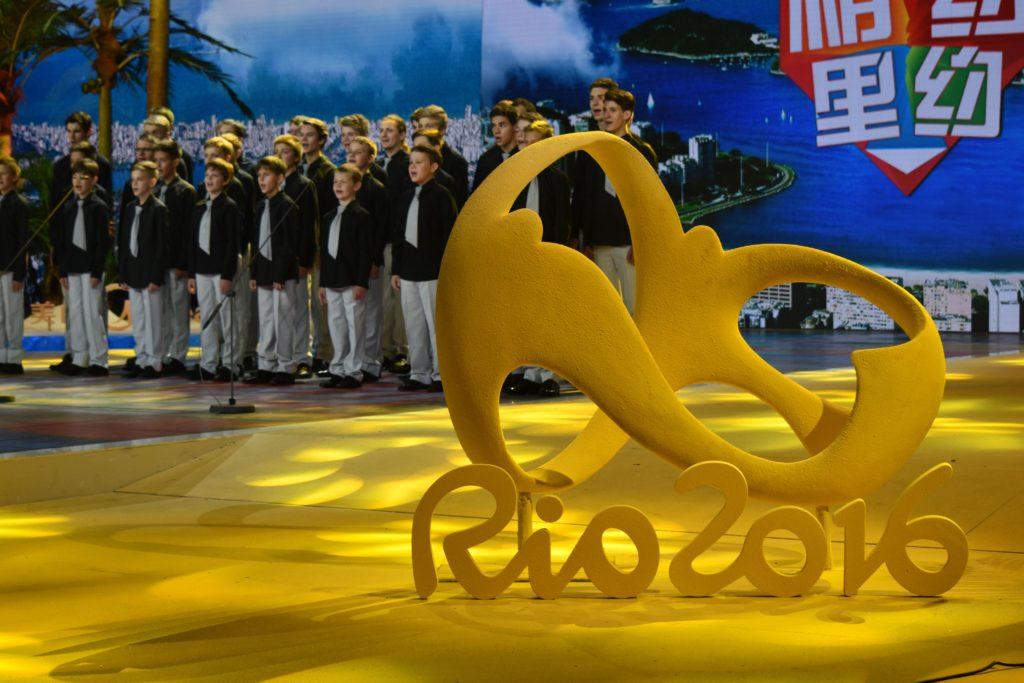 foto pro tisk - CCTV Peking - natáčení pro olympijské studio 2