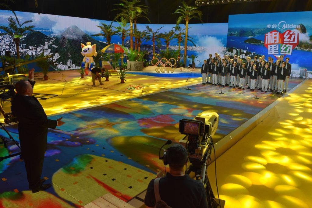 foto pro tisk - CCTV Peking - natáčení pro olympijské studio 3