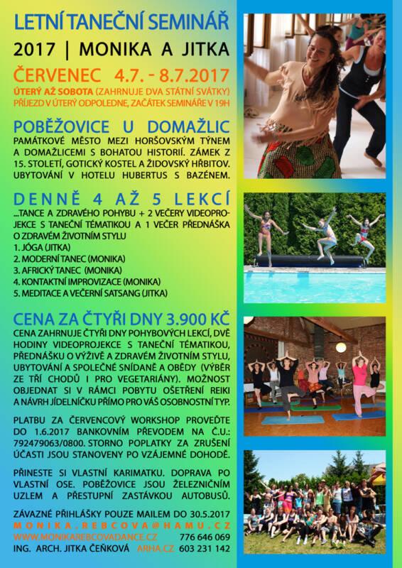 Letní taneční seminář Moniky Rebcové