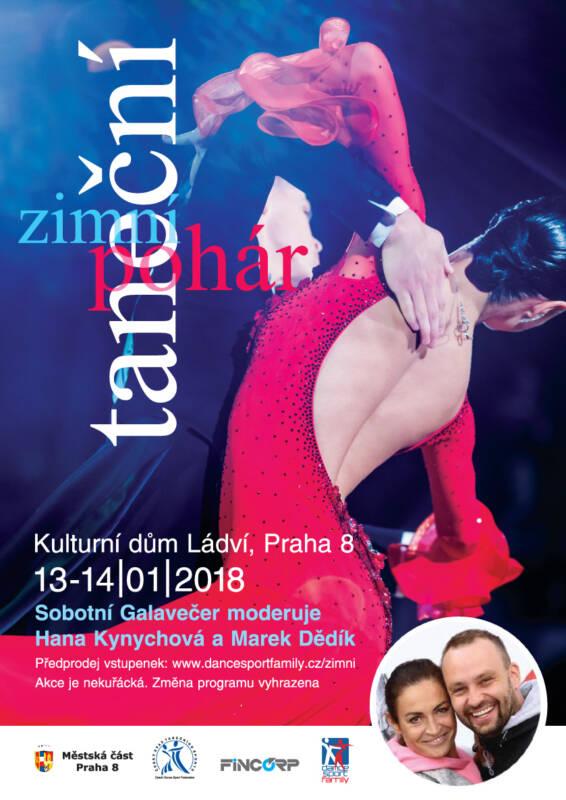 Zimní taneční pohár sMARKEM DĚDÍKEM a HANOU KYNYCHOVOU