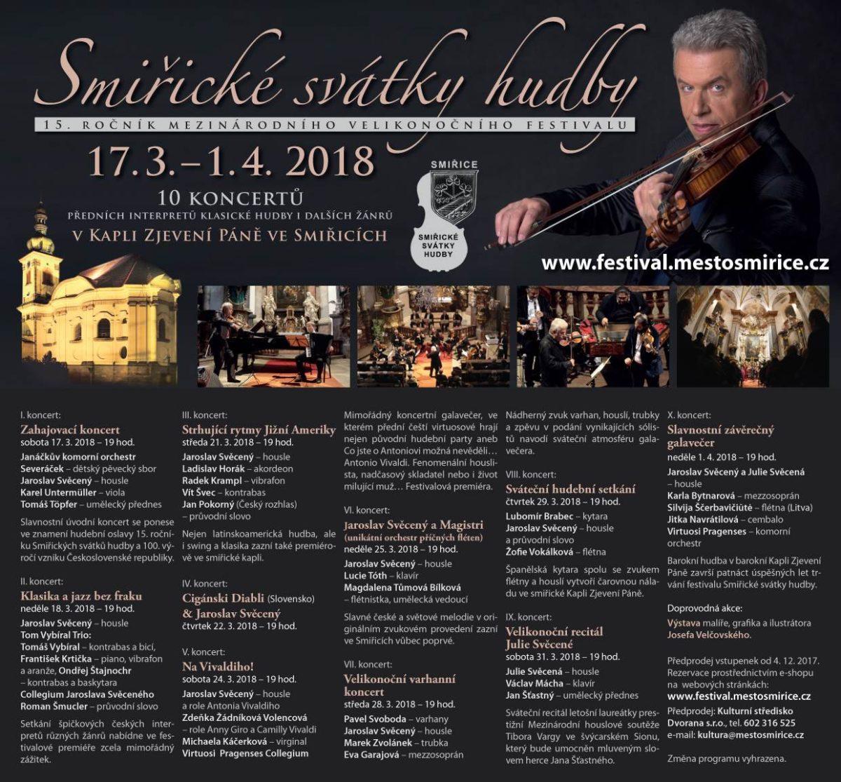 15.ročník festivalu Smiřické svátky hudby