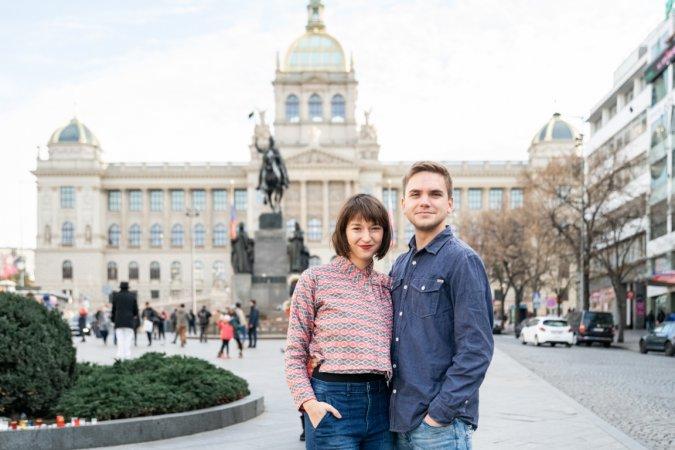 Trénink Bereniky Kohoutové a Jakuba Necpála