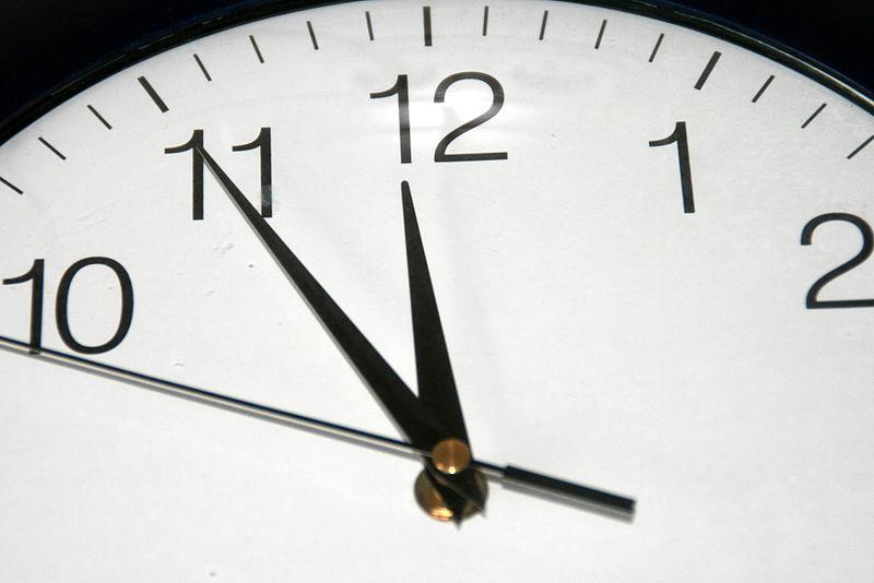Za pět minut dvanáct!