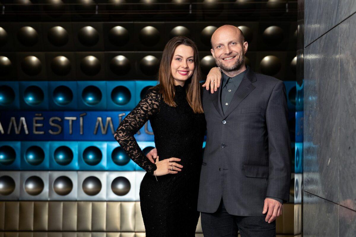 Soutěžní pár Jiří Ployhar a Michaela Nováková
