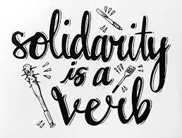 Solidarita jako sloveso